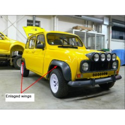 JEU DE 2 EXTENSIONS D'AILES pour Renault 4 ou JP4