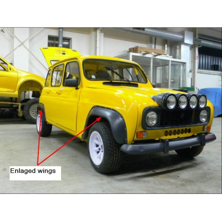 extensions d'ailes Renault 4